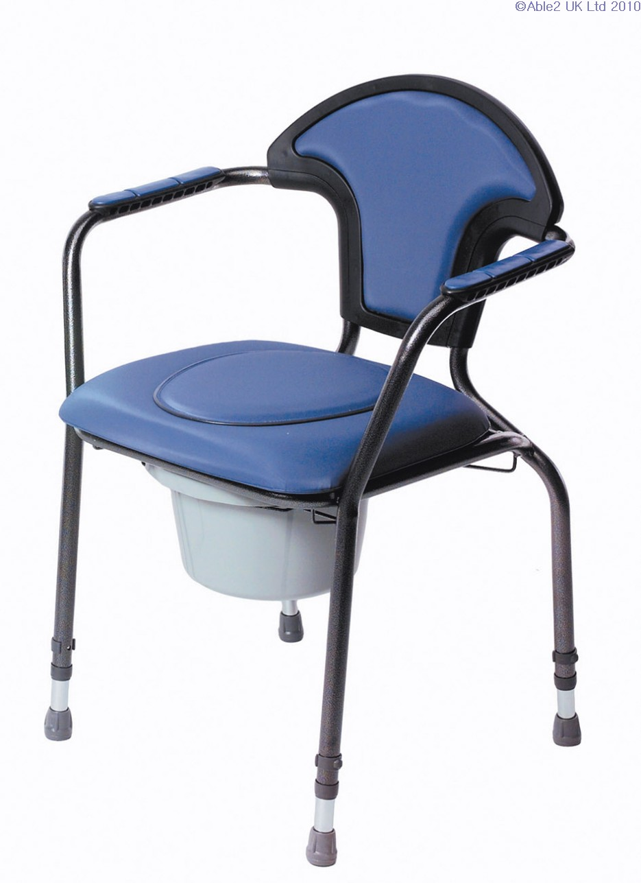 Luxury Commode Chair - Blue