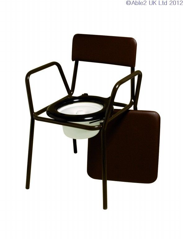 Compact Commode Chair - adjustable height