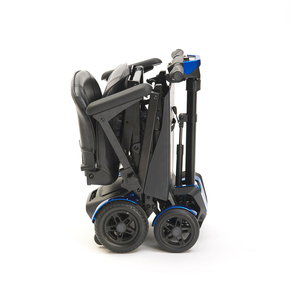4-Wheel Auto Folding Scooter Blue